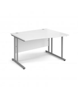 Wave economy desk - 1200mm x 800mm - White RH