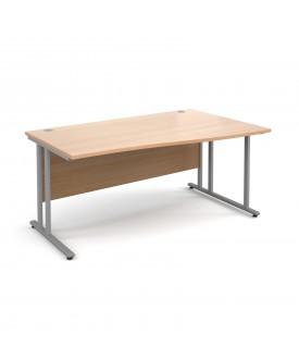 Wave economy desk - 1600mm x 800mm - Beech RH