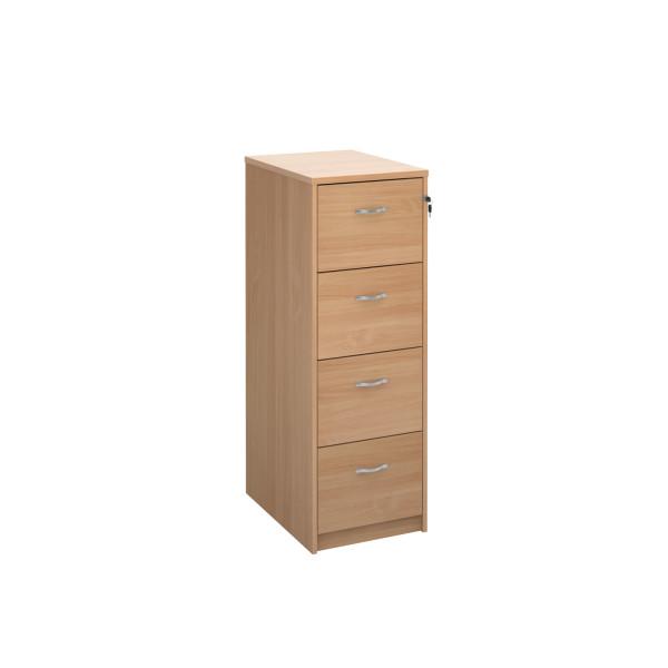 4 Drawer Economy Filing Cabinet - 1445mm - Beech