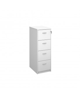 4 Drawer Economy Filing Cabinet - 1445mm - White