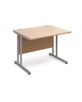 Straight economy desk - 1000mm x 800mm - Beech