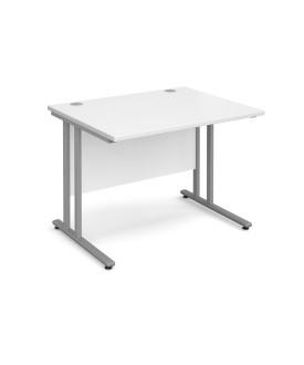 Straight economy desk - 1000mm x 800mm - White