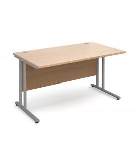 Straight economy desk - 1400mm x 800mm - Beech