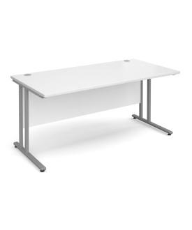 Straight economy desk - 1600mm x 800mm - White