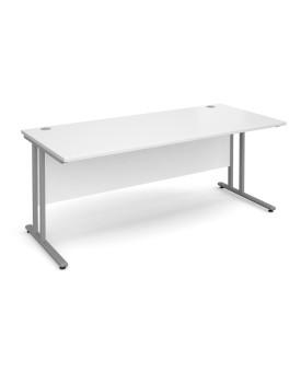 Straight economy desk - 1800mm x 800mm - White