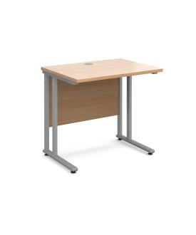 Straight economy desk - 800mm x 600mm - Beech
