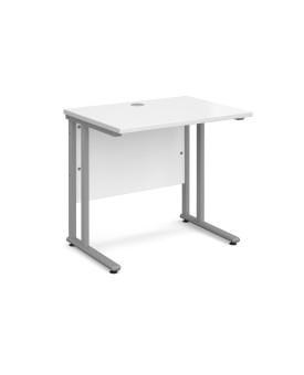Straight economy desk - 800mm x 600mm - White