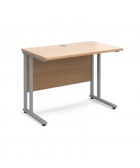 Straight economy desk - 1000mm x 600mm - Beech