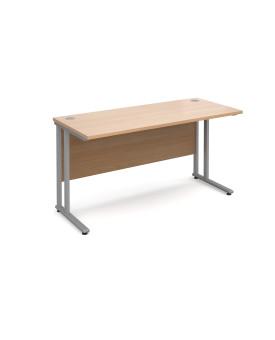 Straight economy desk - 1400mm x 600mm - Beech