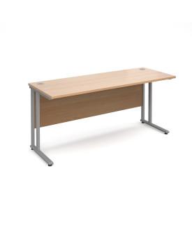 Straight economy desk - 1600mm x 600mm - Beech
