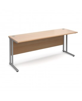 Straight economy desk - 1800mm x 600mm - Beech