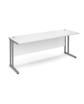 Straight economy desk - 1800mm x 600mm - White
