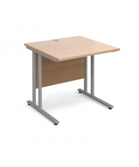 Straight economy desk - 800mm x 800mm - Beech