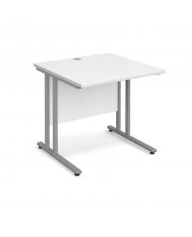 Straight economy desk - 800mm x 800mm - White