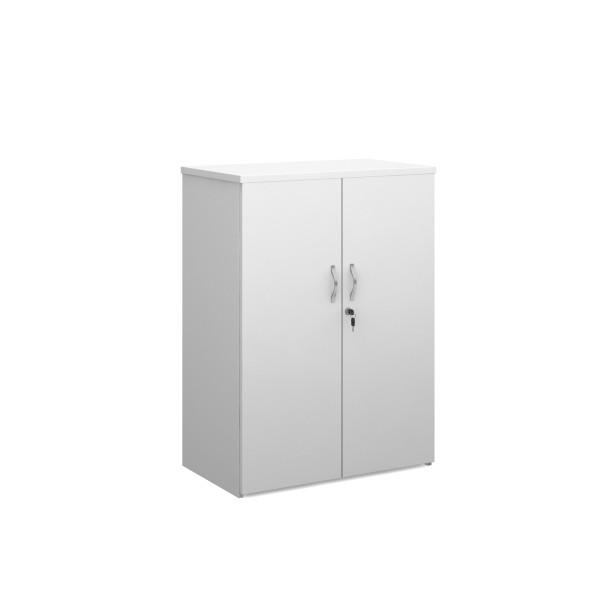 2 door 1200mm economy cupboard - White