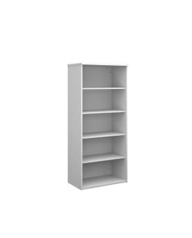 4 Shelf Economy Bookcase - 2000mm- White