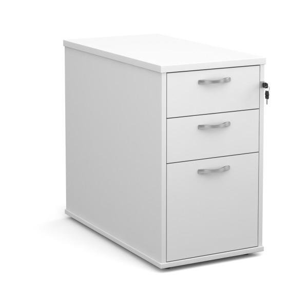 3 drawer economy 800 desk high pedestal -  - White