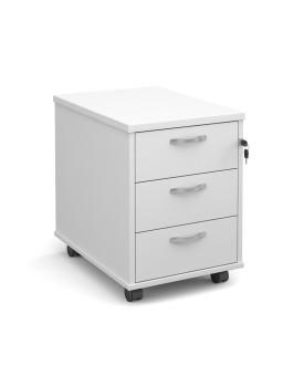3 drawer economy mobile pedestal - White