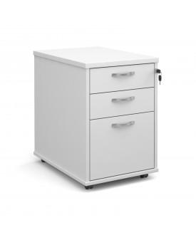 Tall Economy 3 Drawer Pedestal - 630mm - White