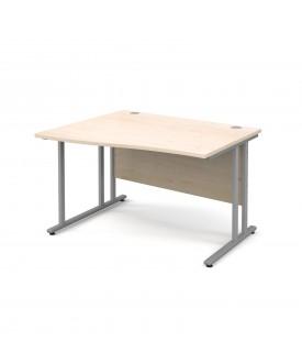 Wave economy desk - 1200mm x 800mm - Maple LH