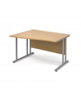Wave economy desk - 1200mm x 800mm - LH Oak
