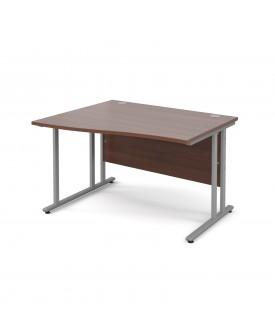 Wave economy desk - 1200mm x 800mm - Walnut LH