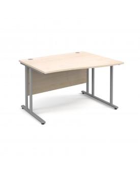 Wave economy desk - 1200mm x 800mm - Maple RH