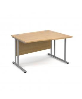 Wave economy desk - 1200mm x 800mm - RH Oak