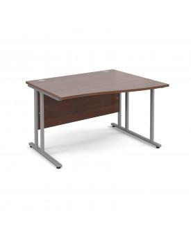 Wave economy desk - 1200mm x 800mm - Walnut RH