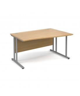 Wave economy desk - 1400mm x 800mm - RH Oak