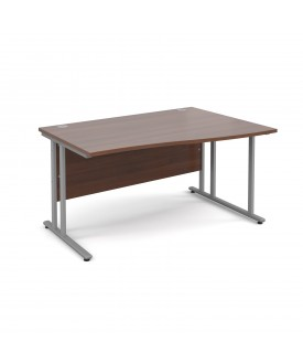 Wave economy desk - 1400mm x 800mm - Walnut RH