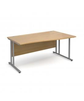 Wave economy desk - 1600mm x 800mm - RH Oak