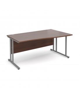Wave economy desk - 1600mm x 800mm - Walnut RH