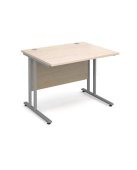 Straight economy desk - 1000mm x 800mm - Maple