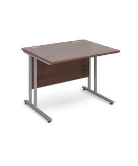 Straight economy desk - 1000mm x 800mm - Walnut