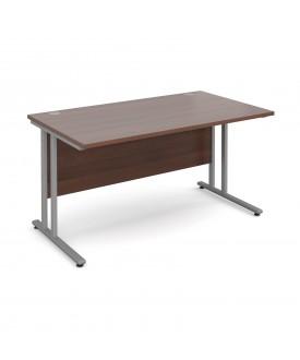 Straight economy desk - 1400mm x 800mm - Walnut
