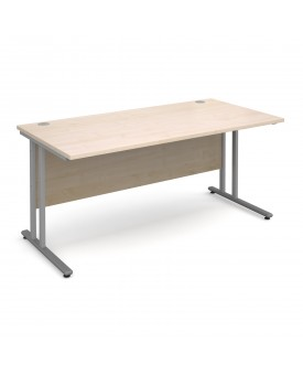 Straight economy desk - 1600mm x 800mm - Maple