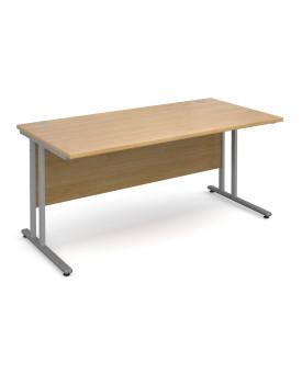 Straight economy desk - 1600mm x 800mm - Oak