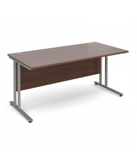 Straight economy desk - 1600mm x 800mm - Walnut