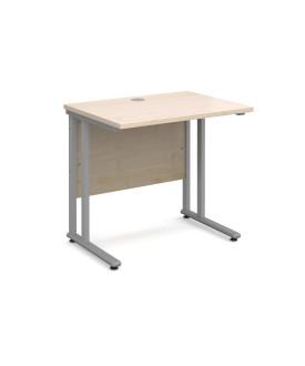 Straight economy desk - 800mm x 600mm - Maple