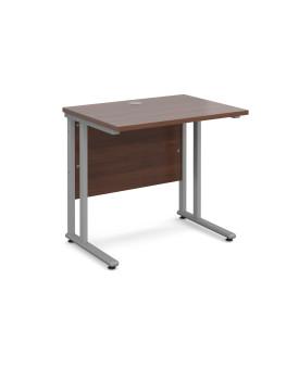 Straight economy desk - 800mm x 600mm - Walnut
