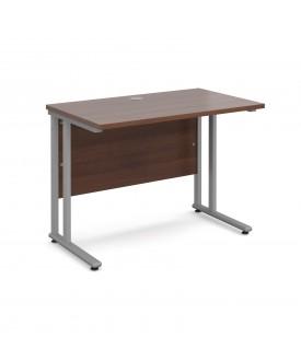 Straight economy desk - 1000mm x 600mm - Walnut