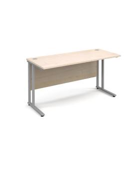 Straight economy desk - 1400mm x 600mm - Maple