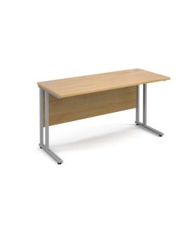 Straight economy desk - 1400mm x 600mm - Oak
