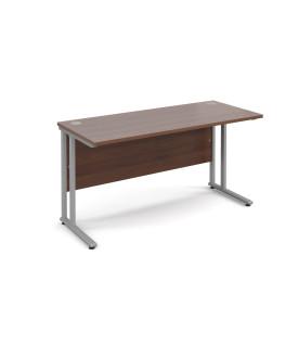 Straight economy desk - 1400mm x 600mm - Walnut
