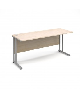 Straight economy desk - 1600mm x 600mm - Maple