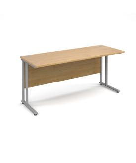 Straight economy desk - 1600mm x 600mm - Oak
