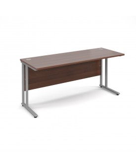 Straight economy desk - 1600mm x 600mm - Walnut