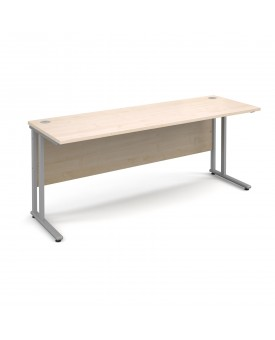 Straight economy desk - 1800mm x 600mm - Maple