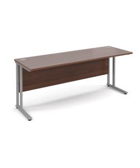 Straight economy desk - 1800mm x 600mm - Walnut